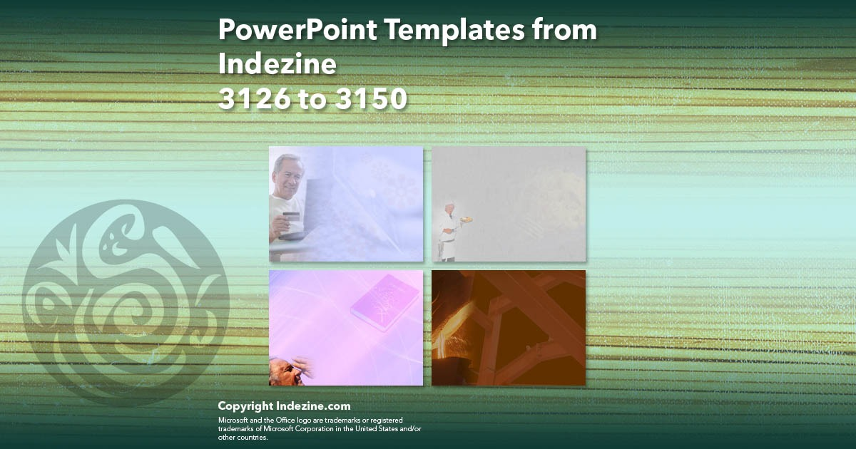 PowerPoint Templates from Indezine 126: Designs 3126 to 3150