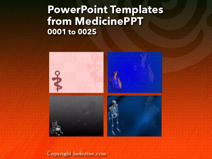 PowerPoint Templates from MedicinePPT 001: Designs 0001 to 0025