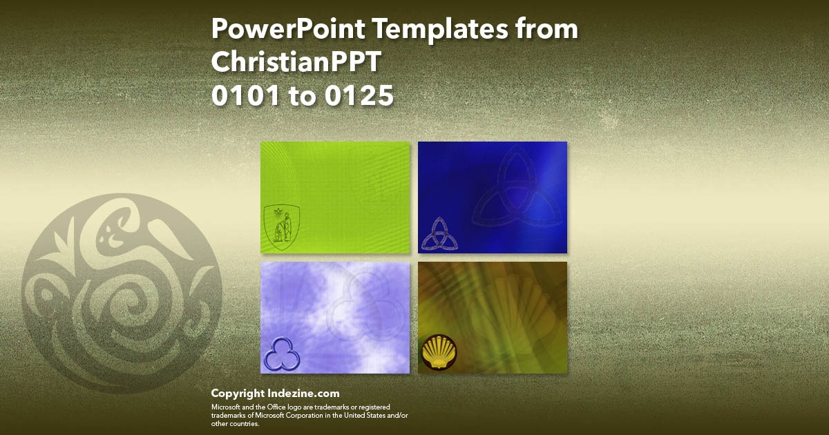 PowerPoint Templates from ChristianPPT 005: Designs 0101 to 0125