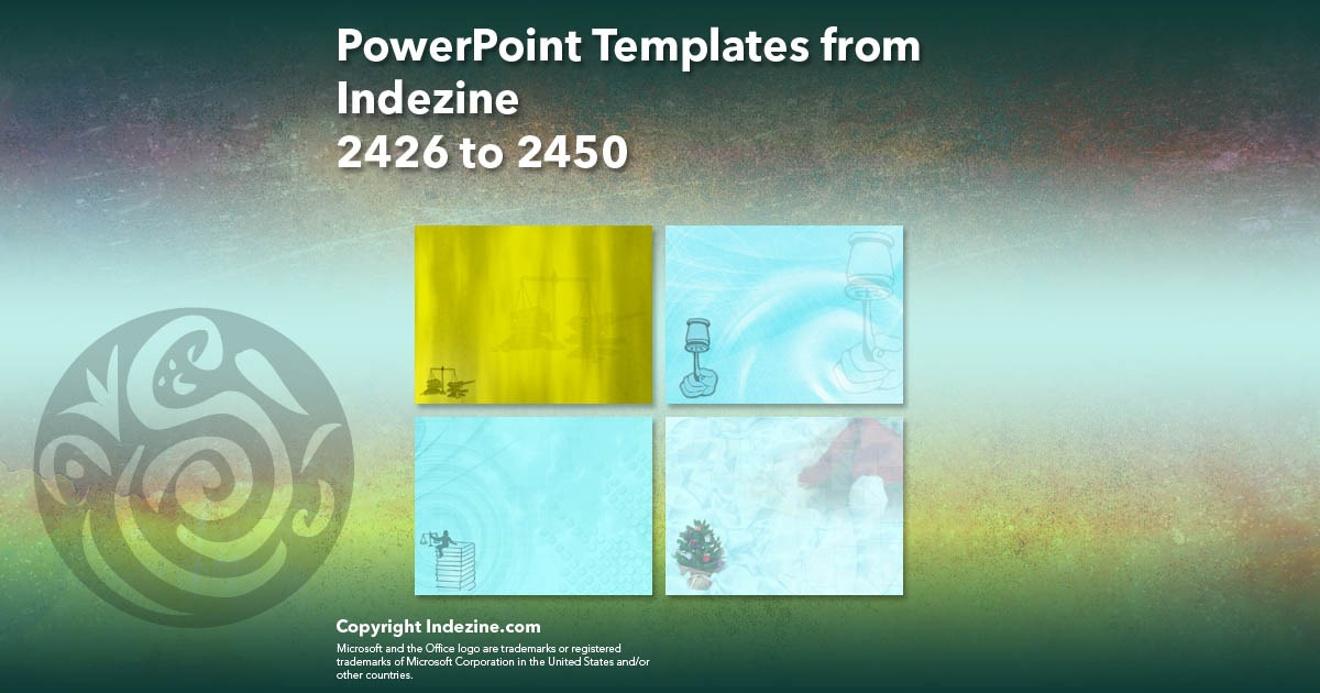 PowerPoint Templates from Indezine 098: Designs 2426 to 2450