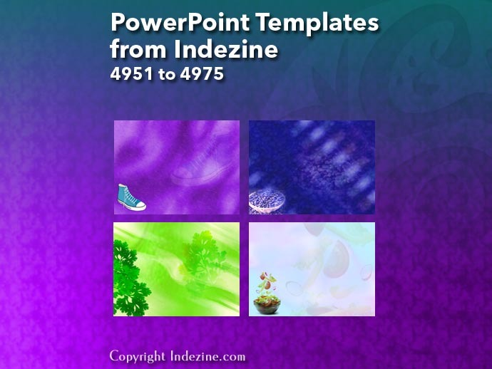 PowerPoint Templates from Indezine 199: Designs 4951 to 4975