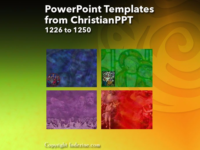 PowerPoint Templates from ChristianPPT 050: Designs 1226 to 1250