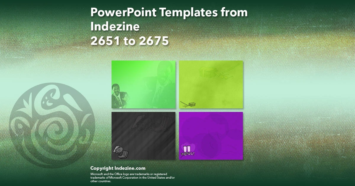 PowerPoint Templates from Indezine 107: Designs 2651 to 2675