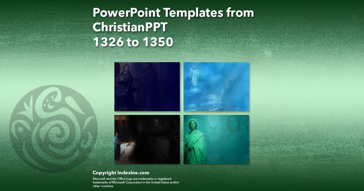 PowerPoint Templates from ChristianPPT 054: Designs 1326 to 1350