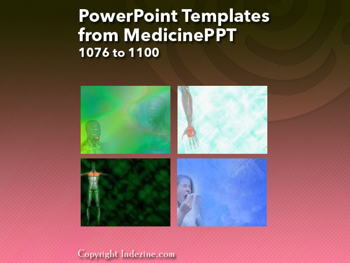 PowerPoint Templates from MedicinePPT 044: Designs 1076 to 1100