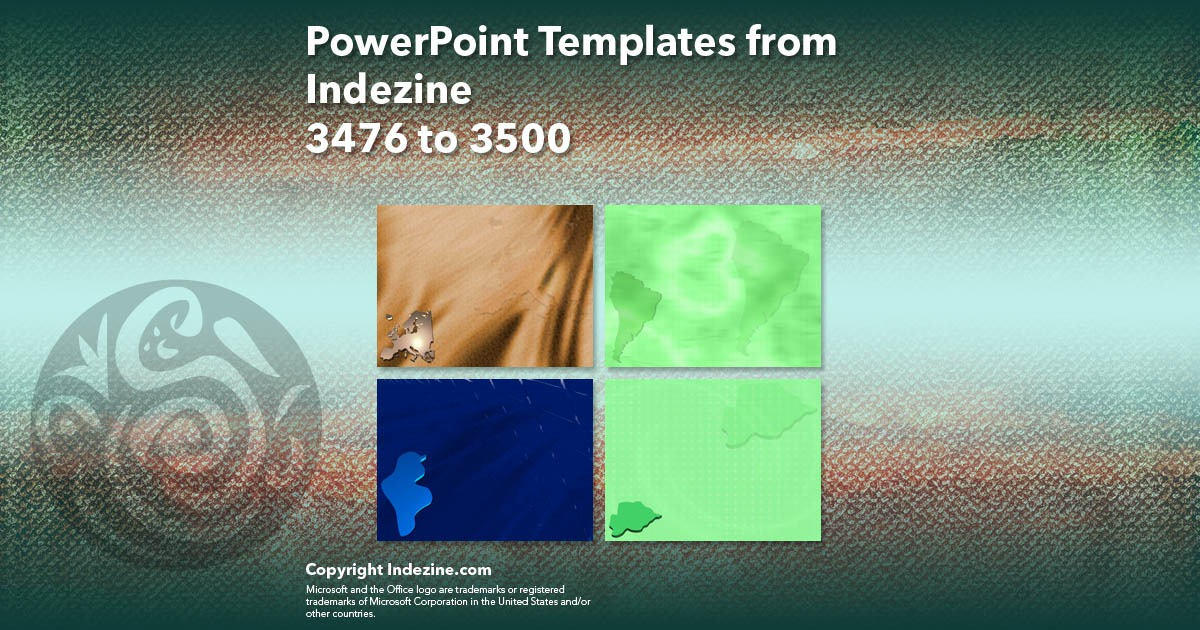 PowerPoint Templates from Indezine 140: Designs 3476 to 3500
