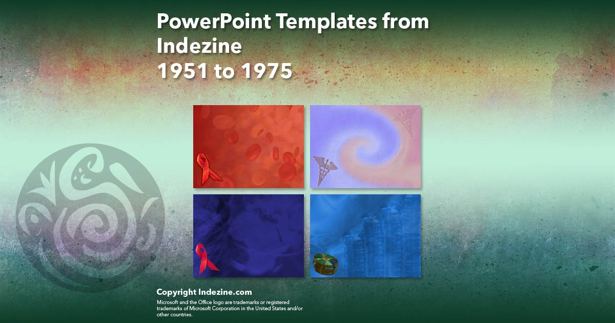 PowerPoint Templates from Indezine 079: Designs 1951 to 1975