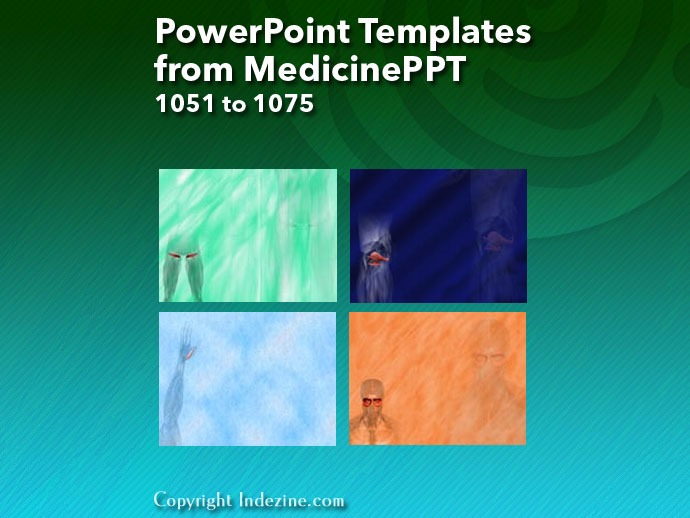 PowerPoint Templates from MedicinePPT 043: Designs 1051 to 1075