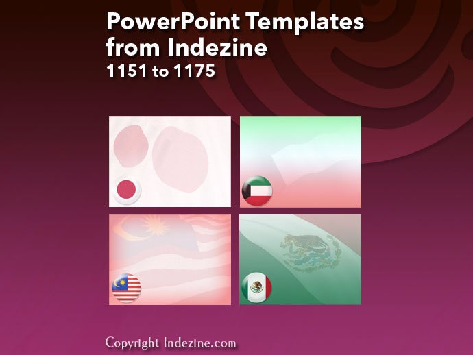 PowerPoint Templates from Indezine 047: Designs 1151 to 1175