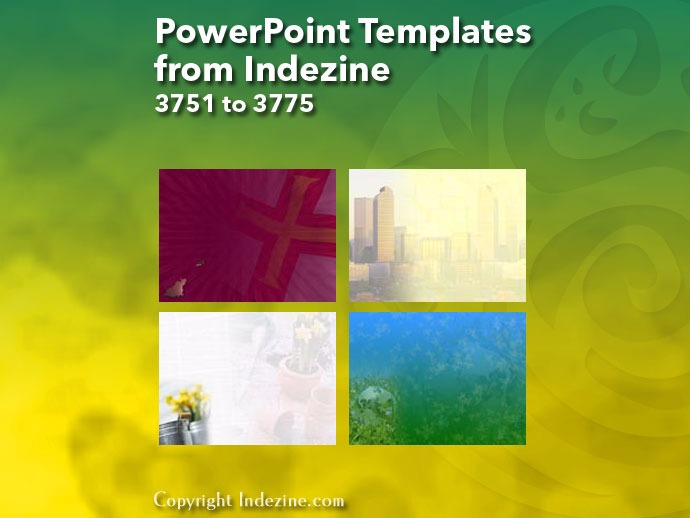PowerPoint Templates from Indezine 151: Designs 3751 to 3775