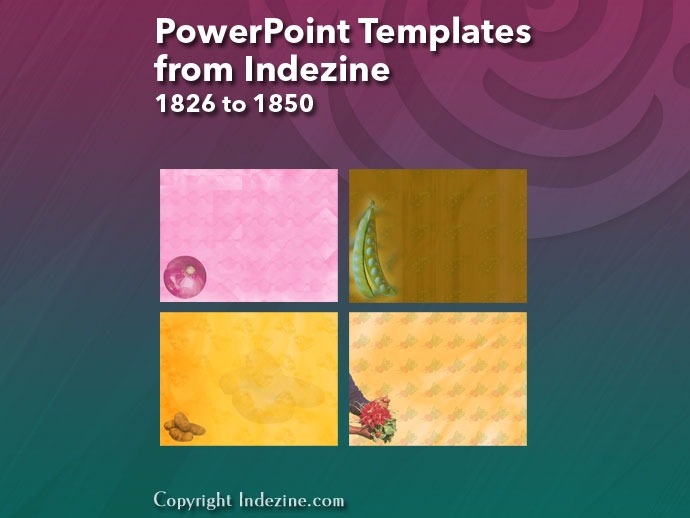 PowerPoint Templates from Indezine 074: Designs 1826 to 1850