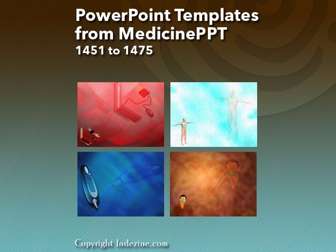 PowerPoint Templates from MedicinePPT 059: Designs 1451 to 1475
