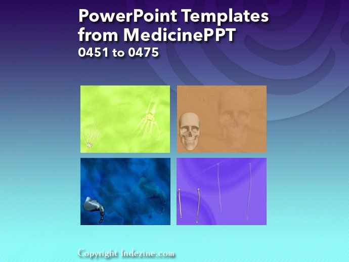 PowerPoint Templates from MedicinePPT 019: Designs 0451 to 0475