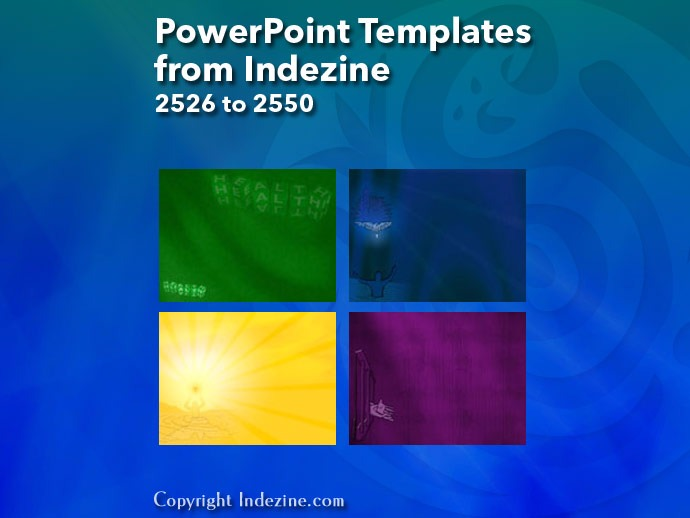 PowerPoint Templates from Indezine 102: Designs 2526 to 2550