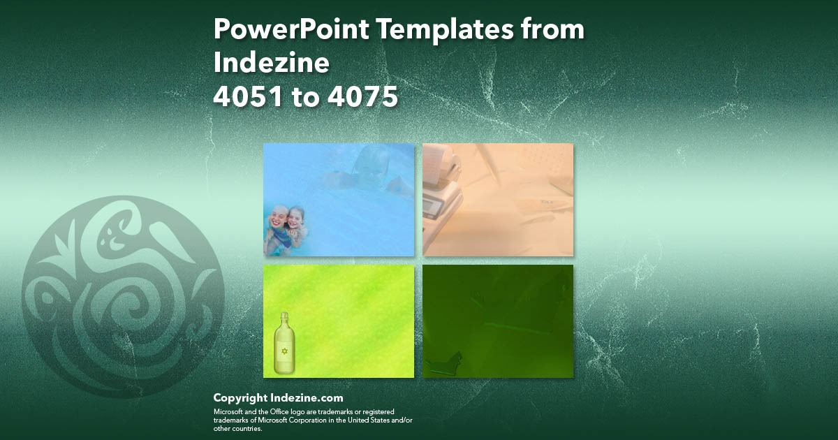 PowerPoint Templates from Indezine 163: Designs 4051 to 4075