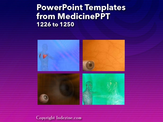 PowerPoint Templates from MedicinePPT 050: Designs 1226 to 1250