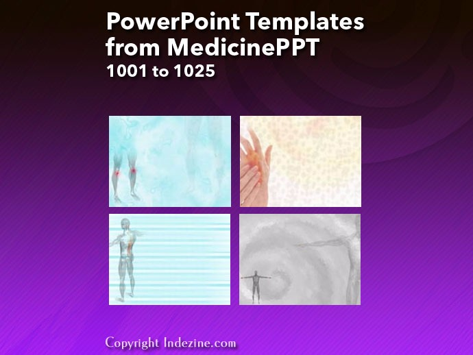 PowerPoint Templates from MedicinePPT 041: Designs 1001 to 1025