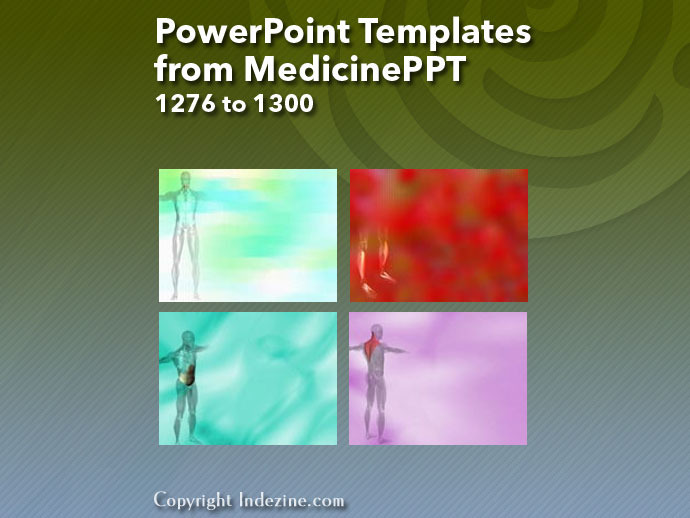 PowerPoint Templates from MedicinePPT 052: Designs 1276 to 1300