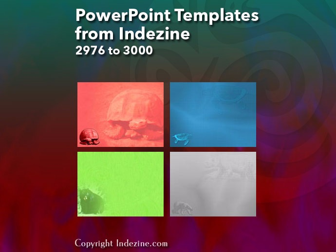 PowerPoint Templates from Indezine 120: Designs 2976 to 3000