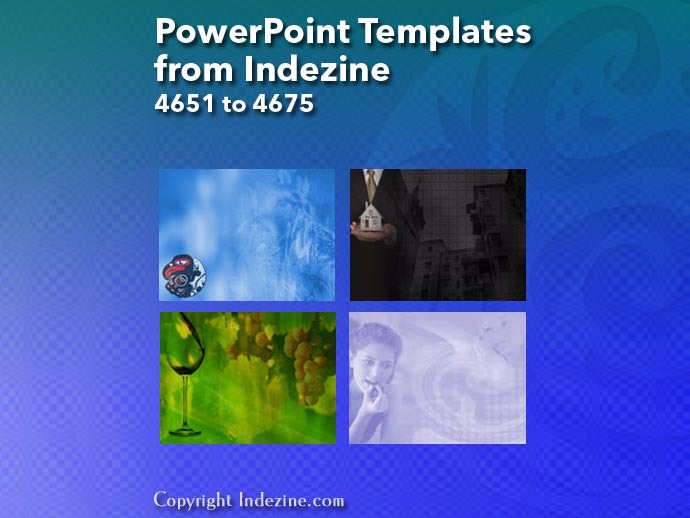 PowerPoint Templates from Indezine 187: Designs 4651 to 4675