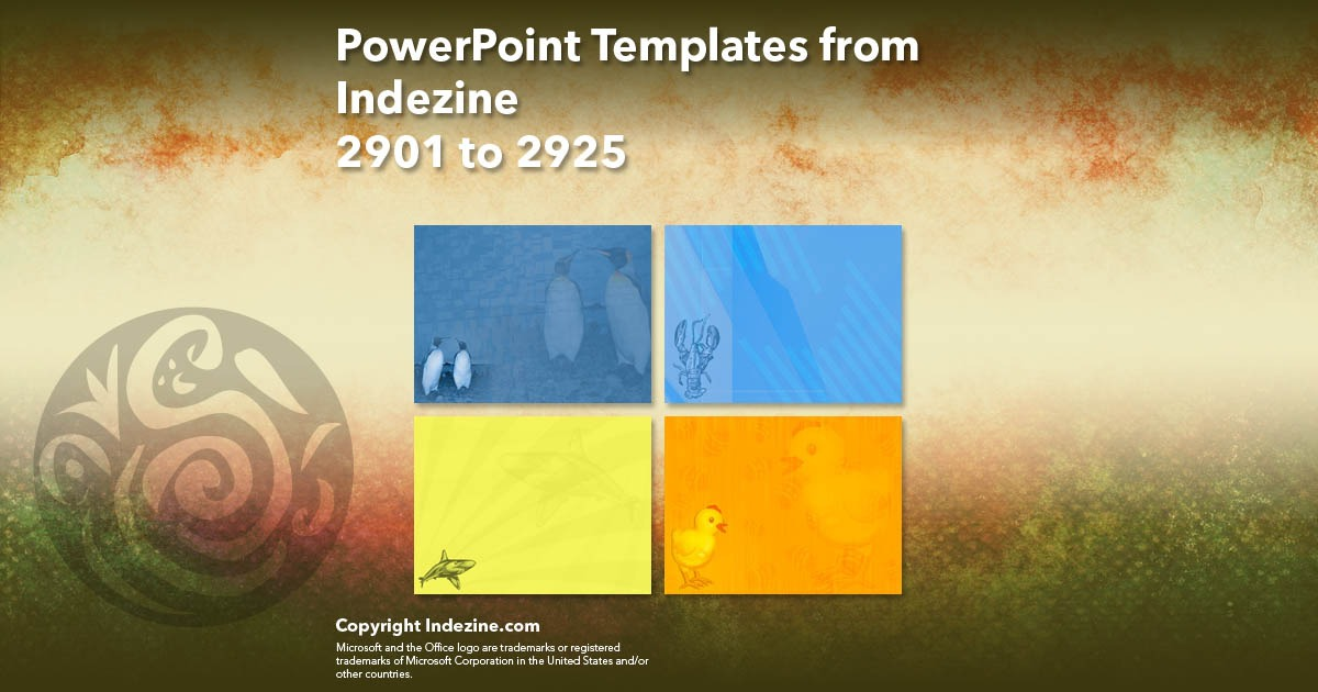 PowerPoint Templates from Indezine 117: Designs 2901 to 2925