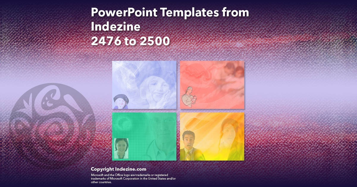 PowerPoint Templates from Indezine 100: Designs 2476 to 2500