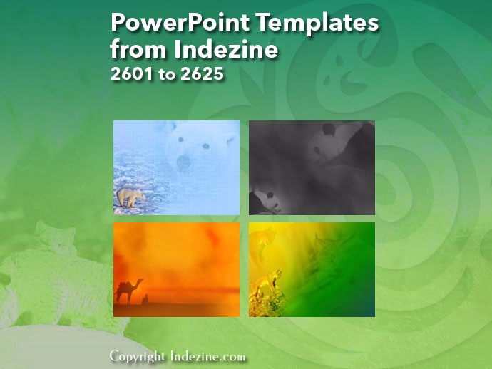 PowerPoint Templates from Indezine 105: Designs 2601 to 2625