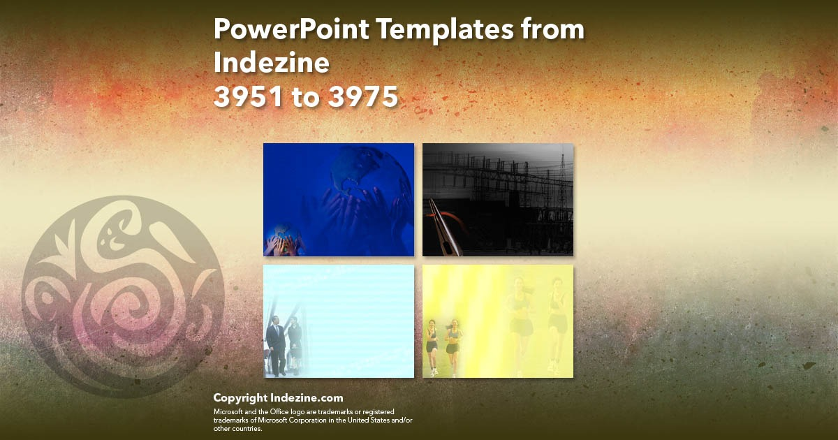 PowerPoint Templates from Indezine 159: Designs 3951 to 3975