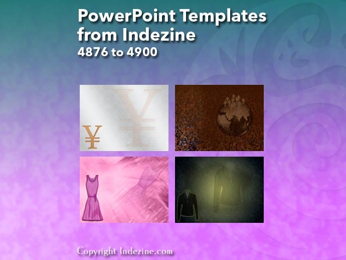 PowerPoint Templates from Indezine 196: Designs 4876 to 4900