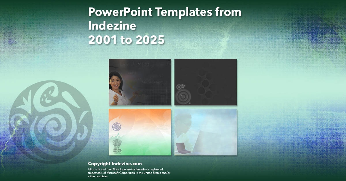 PowerPoint Templates from Indezine 081: Designs 2001 to 2025