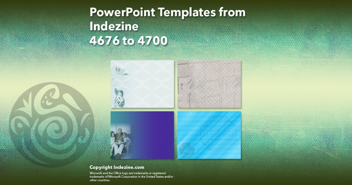 PowerPoint Templates from Indezine 188: Designs 4676 to 4700