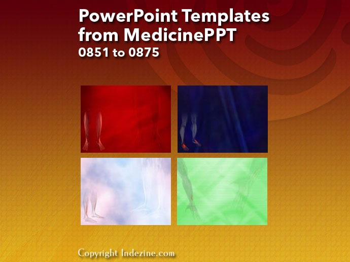 PowerPoint Templates from MedicinePPT 035: Designs 0851 to 0875