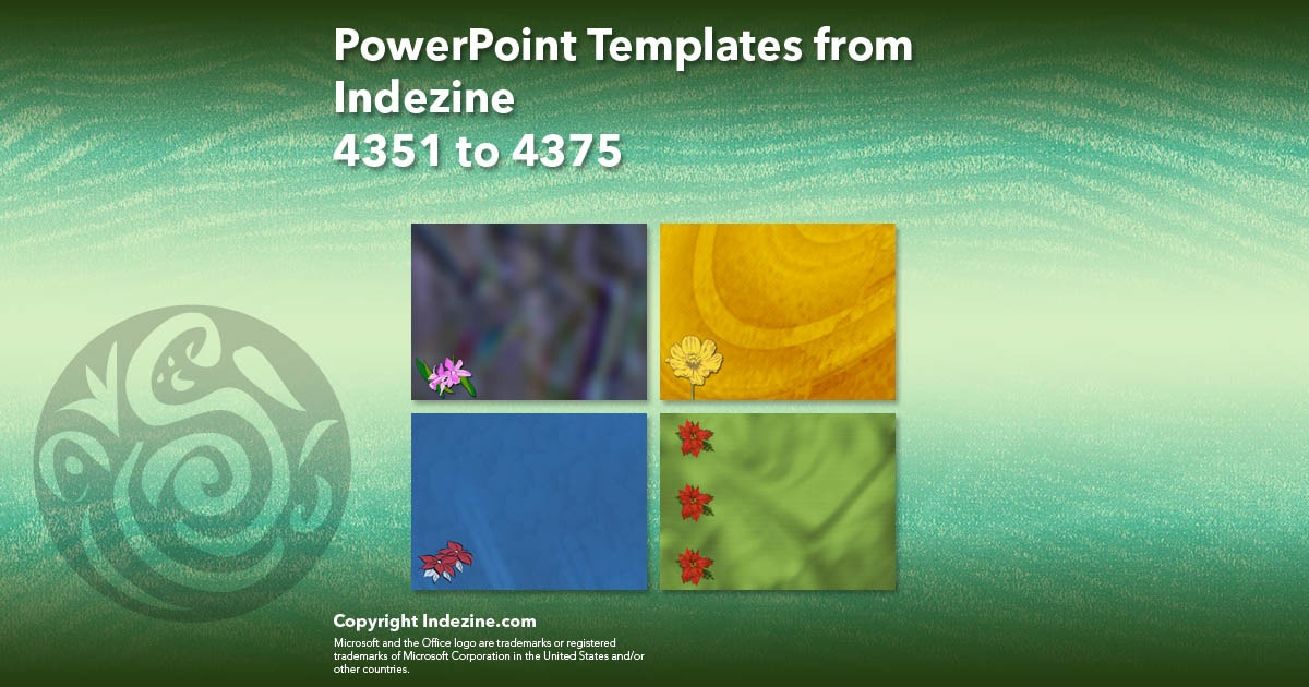 PowerPoint Templates from Indezine 175: Designs 4351 to 4375