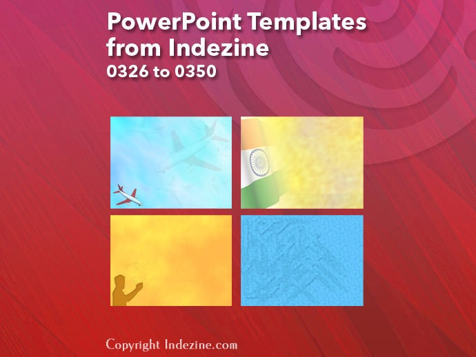 PowerPoint Templates from Indezine 014: Designs 0326 to 0350