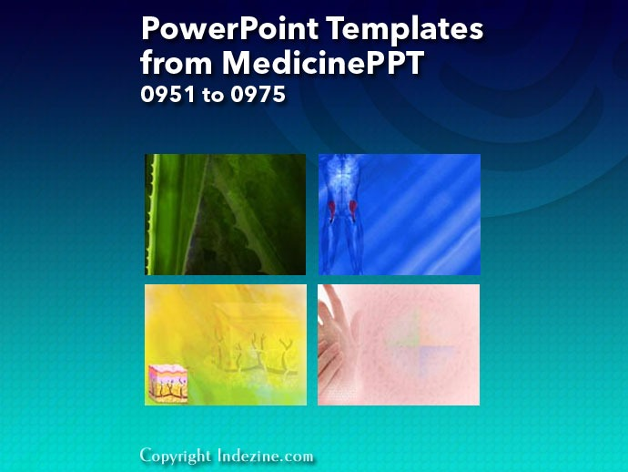 PowerPoint Templates from MedicinePPT 039: Designs 0951 to 0975