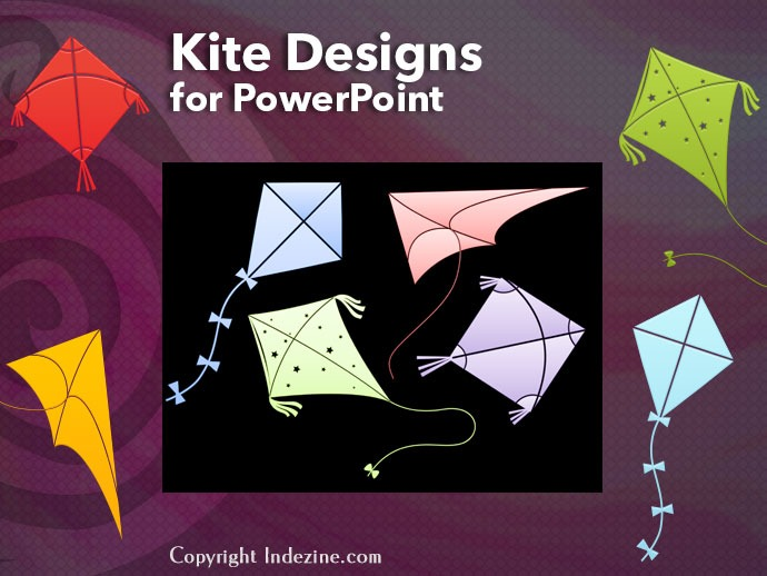 PowerPoint Shapes: Kite Designs
