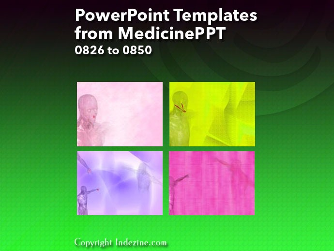 PowerPoint Templates from MedicinePPT 034: Designs 0826 to 0850