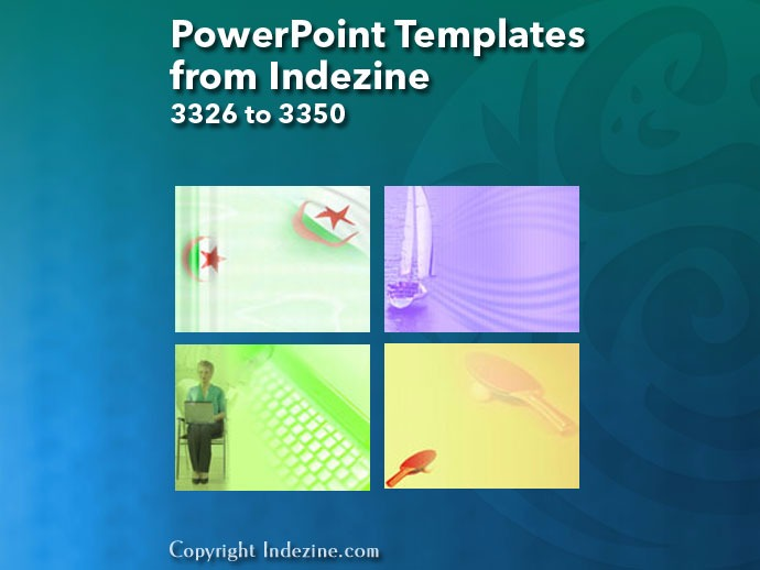 PowerPoint Templates from Indezine 134: Designs 3326 to 3350