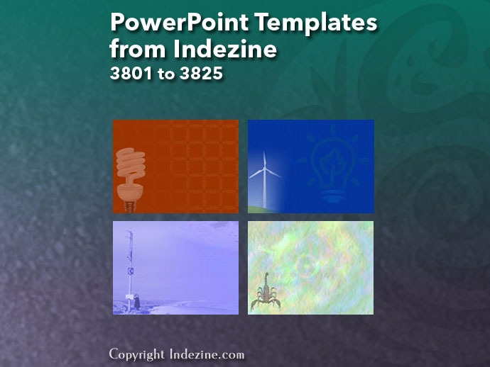 PowerPoint Templates from Indezine 153: Designs 3801 to 3825