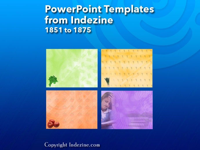 PowerPoint Templates from Indezine 075: Designs 1851 to 1875