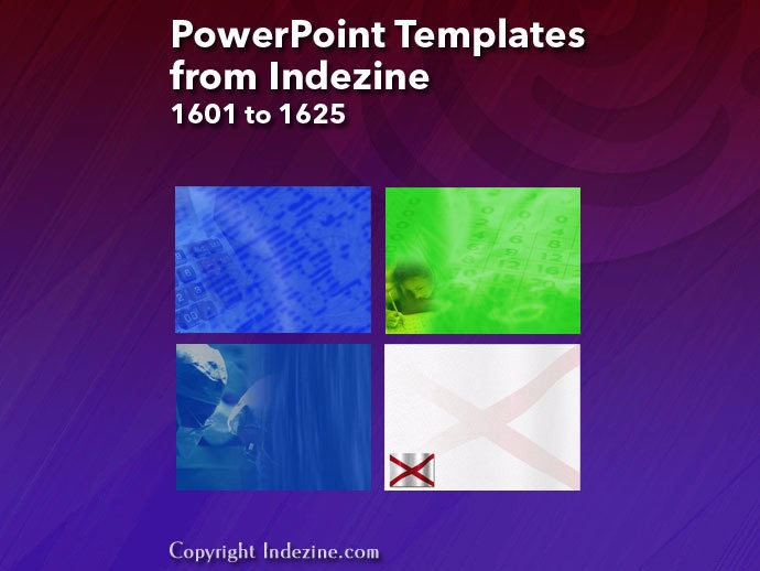 PowerPoint Templates from Indezine 065: Designs 1601 to 1625