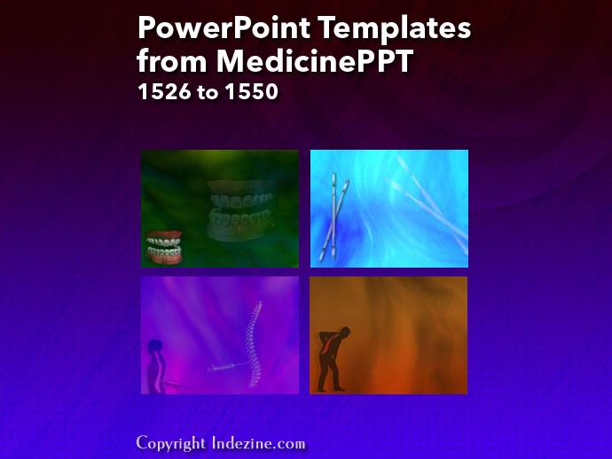PowerPoint Templates from MedicinePPT 062: Designs 1526 to 1550