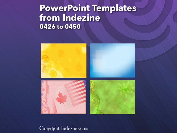 PowerPoint Templates from Indezine 018: Designs 0426 to 0450