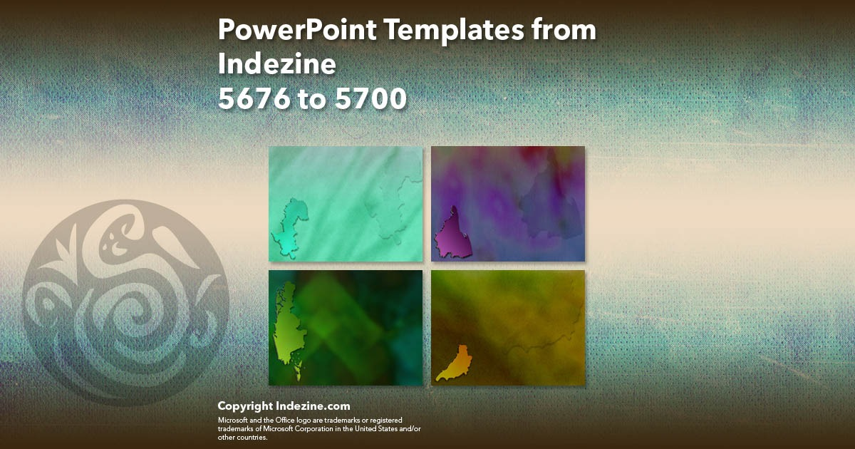 PowerPoint Templates from Indezine 228: Designs 5676 to 5700