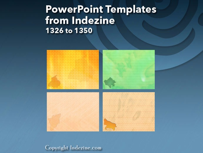 PowerPoint Templates from Indezine 054: Designs 1326 to 1350