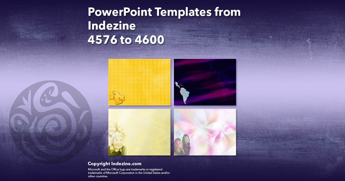 PowerPoint Templates from Indezine 184: Designs 4576 to 4600