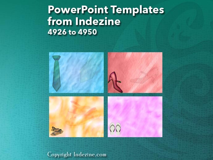 PowerPoint Templates from Indezine 198: Designs 4926 to 4950