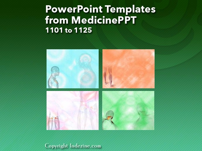 PowerPoint Templates from MedicinePPT 045: Designs 1101 to 1125