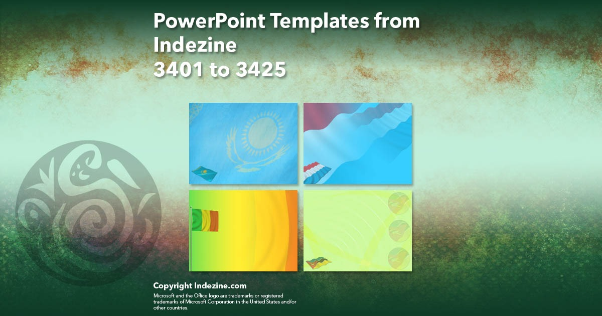 PowerPoint Templates from Indezine 137: Designs 3401 to 3425