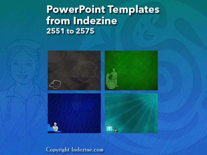 PowerPoint Templates from Indezine 103: Designs 2551 to 2575